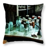 Canning Jars Ladles And Funnels Throw Pillow