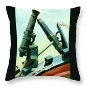Cannon And Anchor Throw Pillow