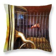 Cannon And Tuba Throw Pillow