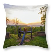 Cannon At Fort Boreman Throw Pillow