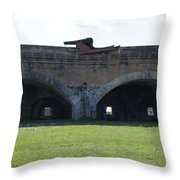 Cannon At Fort Pickens Throw Pillow