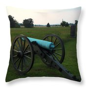 Cannon At Gettysburg 2 Throw Pillow