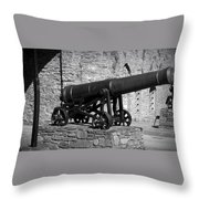 Cannon At Macroom Castle Ireland Throw Pillow