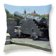 Cannon At The Castillo Throw Pillow
