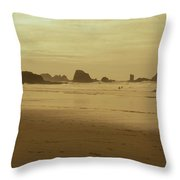 Cannon Beach 3 Throw Pillow