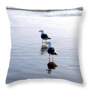 Cannon Beach Buddies Throw Pillow