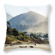 Cannon Beach Oceanfront Vacation Homes Throw Pillow
