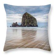 Cannon Beach, Oregon Throw Pillow