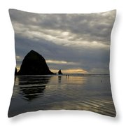 Cannon Beach Reflections Throw Pillow