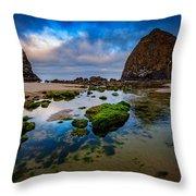 Cannon Beach Throw Pillow by Rick Berk
