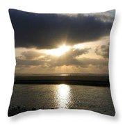 Cannon Beach Sunburst Throw Pillow