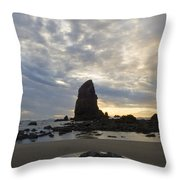 Cannon Beach Sunset 1 Throw Pillow