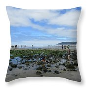 Cannon Beach Tide Pools Throw Pillow