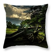 Cannon Encampment Valley Forge Throw Pillow