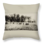 Cannon Fire At Gettysburg  Throw Pillow