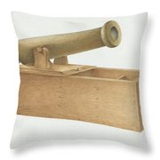 Cannon-shaped Ballot Box Throw Pillow