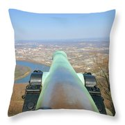 Cannon Sighting Throw Pillow