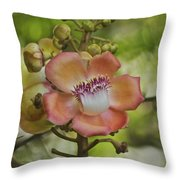 Cannonball Blossom Throw Pillow