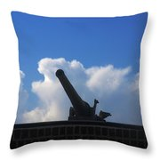 Cannons At Fort Moultrie Charleston Throw Pillow