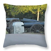 Cannons At Shiloh Throw Pillow