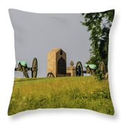 Cannons Behind Hancock Avenue Throw Pillow