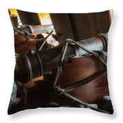 Cannons Below Throw Pillow