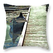 Canoe 2 Throw Pillow