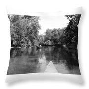 Canoe Joy Throw Pillow