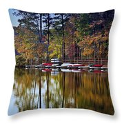 Canoe Lake Throw Pillow