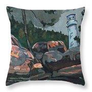 Canoe Lake Light Throw Pillow
