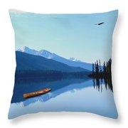 Canoe Lake Throw Pillow