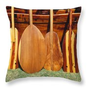 Canoe Paddles Throw Pillow