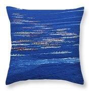 Canoe Race Throw Pillow