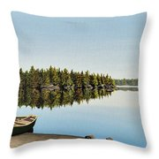 Canoe The Massassauga Throw Pillow