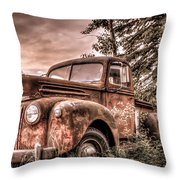 Canoe Truck #2 Throw Pillow