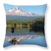 Canoeing At Trillium Lake Throw Pillow