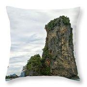 Canoeing The Thailand Scarps Throw Pillow