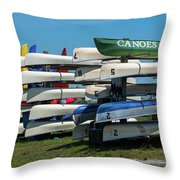 Canoes Cascaded Throw Pillow