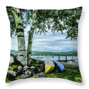 Canoes  Throw Pillow
