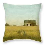Canola Field Of Dreams Throw Pillow