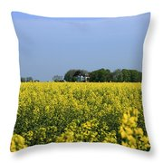 Canola Field Throw Pillow