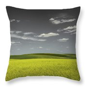 Canola Hills And Dales Throw Pillow