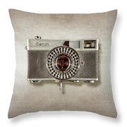 Canonete Film Camera Throw Pillow