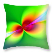 Canoodeling Neon Nodes Fractal Throw Pillow