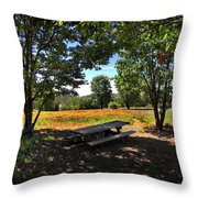 Canopy Of Shade Throw Pillow