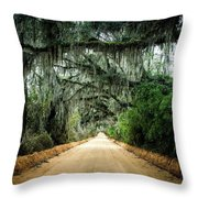 Canopy Road Throw Pillow