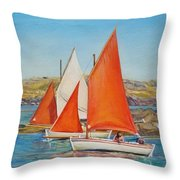 Canots Chausiais Throw Pillow