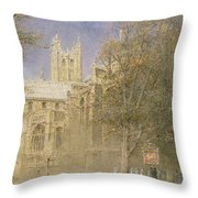 Canterbury Cathedral Throw Pillow