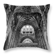 Canterbury Cathedral - Interior Throw Pillow