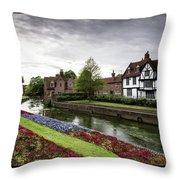 Canterbury City, Kent Uk Throw Pillow